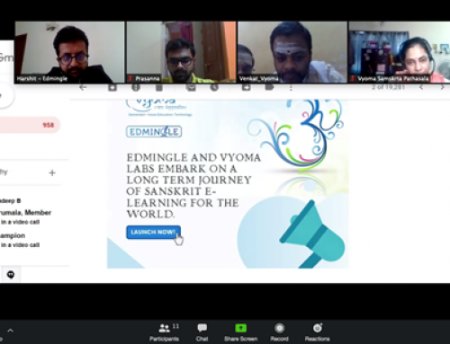 Vyoma Labs and Edmingle Partner together to provide enhanced Sanskrit E-learning for the world.