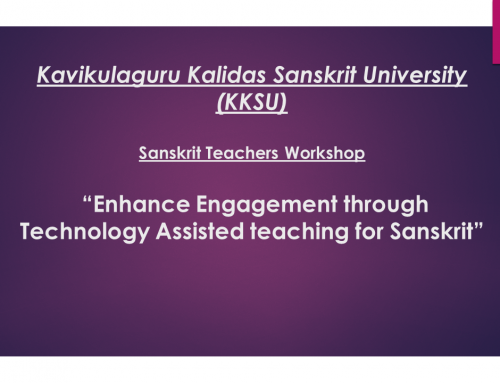 Sanskrit Teachers Workshop