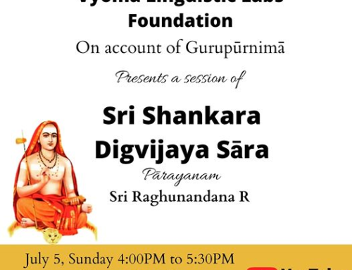 Parayanam of Sri Shankara Digvijaya saara – Livestream on YouTube