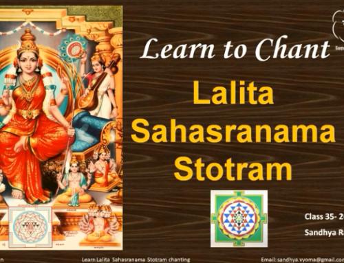 Last Class of Lalitha Sahasranaama Chanting course