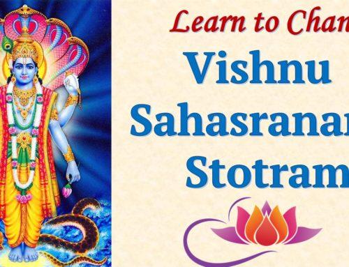 Vishnusahasranama Last class