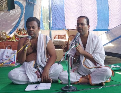 Vyoma Sanskrit Brothers, participated in the varshikotsava event of Webolim